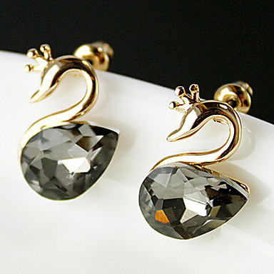"""""""New Arrival Hot Selling High Quality Crystal Swan Earrings"""""""