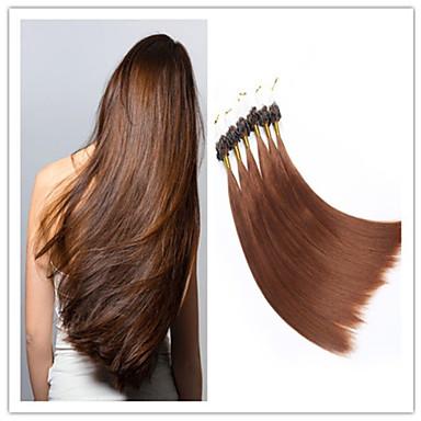 Buy Brazilian Virgin Keratin Fusion Hair Extension Micro Ring Hair/Loop 1G/S 100G/PC 1PC/Lot Stock