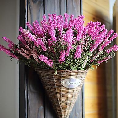 1 Bunch Purple Lush Artificial Lavender Flowers Bouquet Home Garden Decor (Ra...