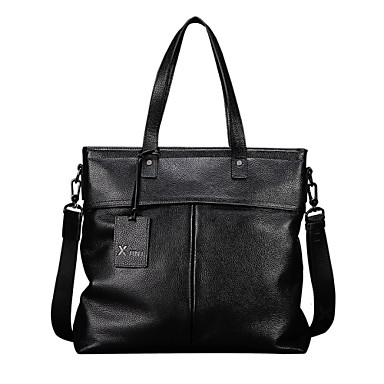 Buy X.BNJ 1233-1 Men Briefcase Top Grade Genuine Leather Business Handbag Vintage First Layer Cowhide Shoulder Bags