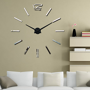 Buy Uermerstar 39 inchW DIY 3D Mirror Large Acrylic Sticker Wall Clocks Art Modern Style