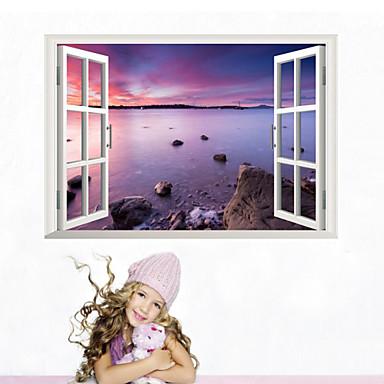 3d adesivi murali parete in stile decalcomanie spiaggia for Adesivi parete 3d