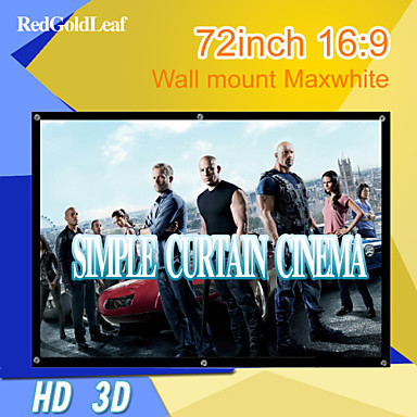 Buy RedGoldLeaf® 72Inch 16:9 Maxwhite Wall Mount Screen