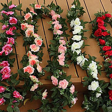 Buy Wedding Decoration Flower Vine Plastic Roses Artificial Flowers(1PC)