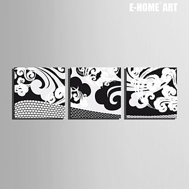 Buy E-HOME® Stretched Canvas Art Pattern Clouds Decorative Painting Set 3
