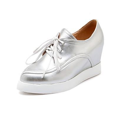 Zapatos de mujer tac n cu a punta redonda oxfords for Zapatos de trabajo blancos