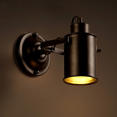 Black Retro Wall Lights : Vintage Wall Lamp Industrial Black Wrought Iron Wall Light Retro Econce Fixturedison Lamp ...