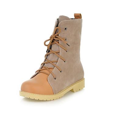 Zapatos de mujer tac n bajo punta redonda botas a la - Botas de trabajo ...