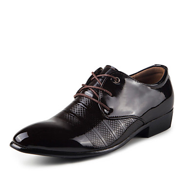 s shoes pointed patent leather casual business leather