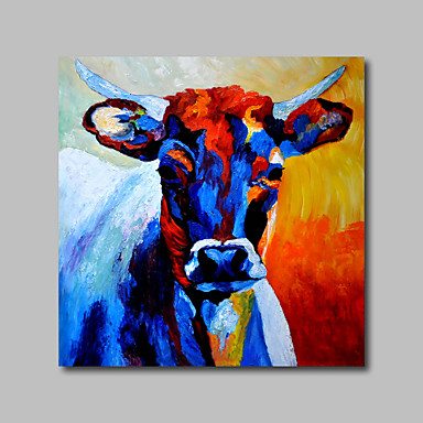 hand painted oil painting on canvas wall art pop art animals cow home deco one panel ready to. Black Bedroom Furniture Sets. Home Design Ideas