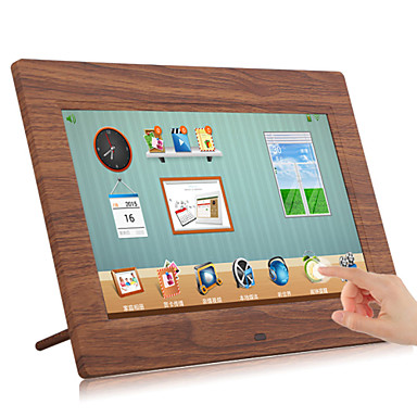 Touch LCD Wooden Wi-Fi Cloud Digital Photo Frame