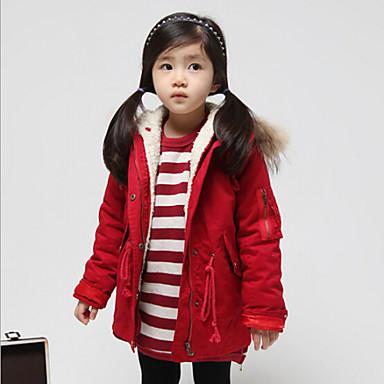 veste manteau fille de hiver automne m lange de coton vert rouge de 4418209 2016. Black Bedroom Furniture Sets. Home Design Ideas