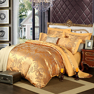 royal retro stil goldenen jacquard bettw sche set 4 teilig 4486602 2016. Black Bedroom Furniture Sets. Home Design Ideas