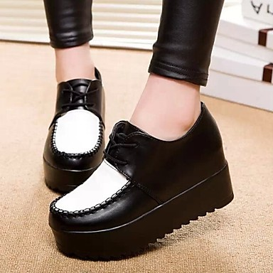 women's shoes all match platform creepers round toe