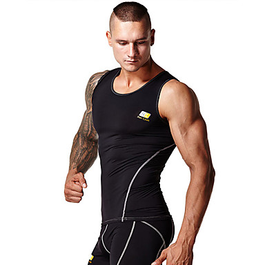 Men's Running Tank Tops Wearable Lightweight Materials Soft Sweat-wicking Compression Sports WearYoga Pilates Exercise & Fitness Racing