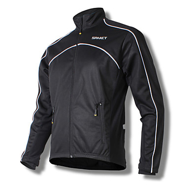 Buy SPAKCT Cycling Tops / Jacket Men's Bike Breathable Windproof Thermal Warm Long Sleeve Stretchy Fleece Solid BlackM L XL XXL