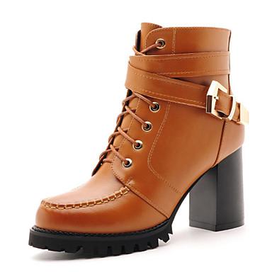 Mujer tac n robusto botas a la modaoficina y trabajo - Zapatos de trabajo ...