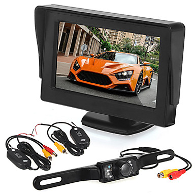 Buy Car Rearview Camera 7 LED + Wireless Transmitter & Receiver 4.3 inch LCD Monitor