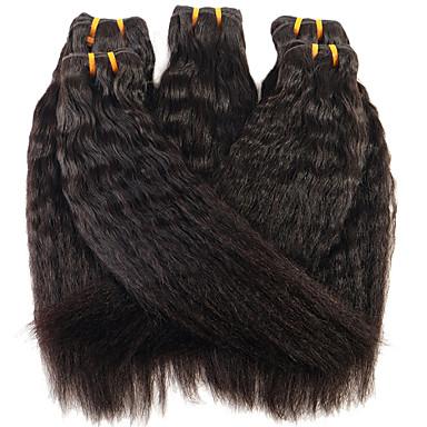 Buy ANNA Brazilian Hair Kinky Straight Extensions #1B Virgin Wefts 100g/pcs