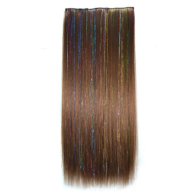 Buy 22 Inch Clip Synthetic Straight Hair Extensions 5 Clips 2M30 Color Hot Sale.