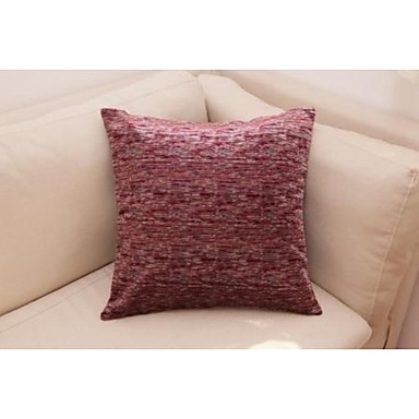 Buy Mock Chenille Yarn Decorative Pillow Cushion Cover Bed 18''x18'', Set 2, Wine Red