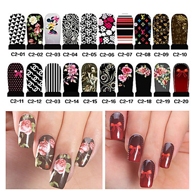 Buy 2Water Transfer Nail Art Stickers Full Cover DIY Designs Manicure Accessories(C2-001 C2-020)