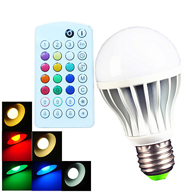 Buy E26/E27/B22 9W 700LM Color Temperature Adjustable RGBW A60 Remote-Controlled/Music-Controlled LED Globe Bulb