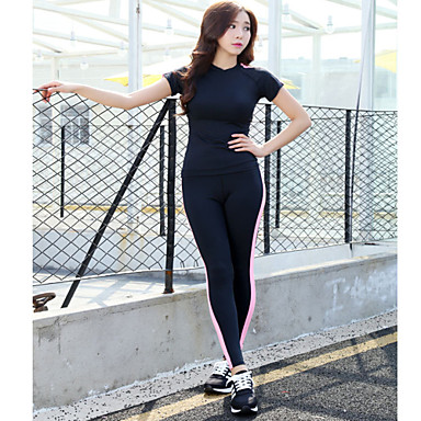 Elastic Tight Long Yoga Set Yoga Pants   Yoga Tops Yoga Suits Yoga ...