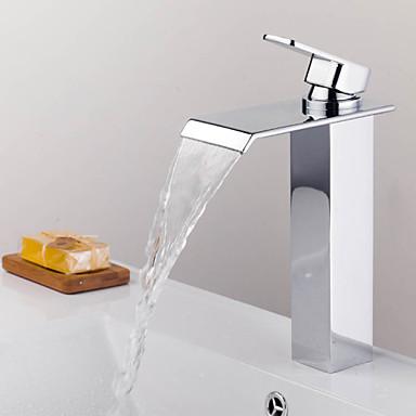 Modern bad en douche waterval with keramische ventiel single handle een hole for chroom - Moderne badkraan ...