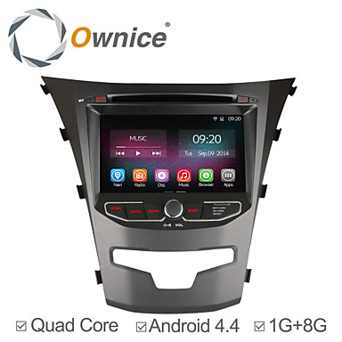 Buy 7 Inch 2 Din In-Dash Car DVD Player Ssangyong Korando2014 2015 Quad Core Android 4.4.2 GPS Navigation Radio