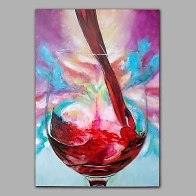 Pintada a mano Naturaleza muerta Un Panel Lienzos Pintura al óleo pintada a colgar For Decoración hogareña