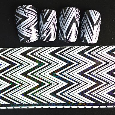 Buy 20*4cm 2016 New Japanese White Series Nail Art Big Wave Image Design Transfer Foils DIY Sticker STZ Jw5
