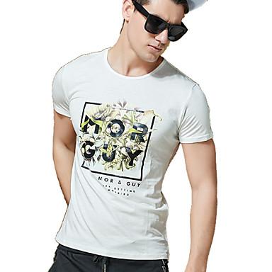 T Shirt Uomo Casual Da Ufficio Formale Con Stampe