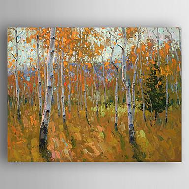 Handgeschilderde landschapmodern e n paneel canvas hang geschilderd olieverfschilderij for - Hang een doek ...