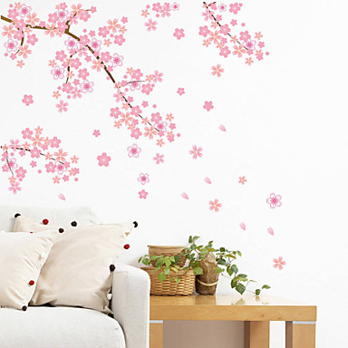 Wall Stickers Wall Decals Style Pink Cherry Blossom Tree