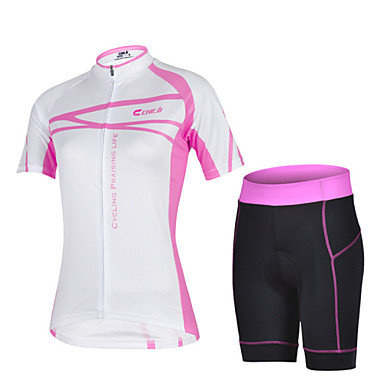 Buy CHEJI Women's Breathable Quick Dry Short Sleeve Bicycle Cycling Jersey 3D Pad Pant