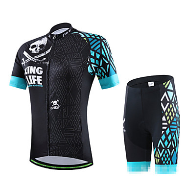 Buy CHEJI® Cycling Jersey Shorts Men's Short Sleeve BikeBreathable / Quick Dry Ultraviolet Resistant Lightweight Materials 3D Pad