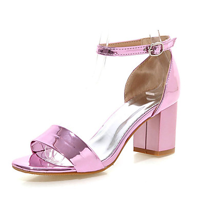 s shoes chunky heel open toe sandals dress pink