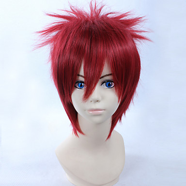 Buy Cosplay Wigs Naruto Gaara Red Short Anime 28 CM Heat Resistant Fiber Male
