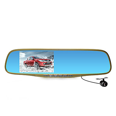 Buy M12 4.3-Inch Screen Rearview Mirror Tachograph 1080P HD Wide-Angle Night Vision Dual Lens Reverse Image