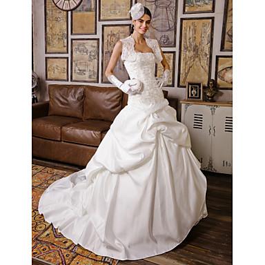 Lanting Bride® Ball Gown Petite / Plus Sizes Wedding Dress - Classic & Timeless / Elegant & LuxuriousWedding Dresses With Wrap / Vintage