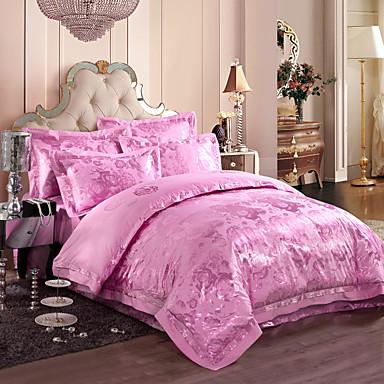 Light purple queen king size bedding set luxury silk - Light purple comforter set ...