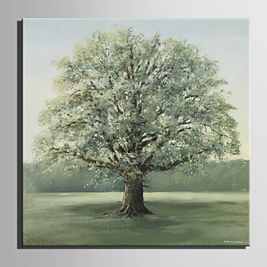 Buy Mini Size E-HOME Oil painting Modern Big Tree Grass Pure Hand Draw Frameless Decorative Painting