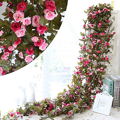 230CM 51Heads Flower High Fidelity Rose Flower Rattan Home Decoration ...