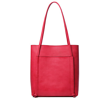 Buy NAWO Women Cowhide Tote Red-N154291