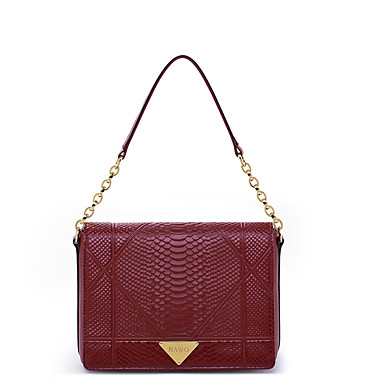 Buy NAWO Women Cowhide Tote Burgundy-N152081