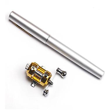 Mini Fishing Rod + Reel / Carbon Pen Rod & Trolling Reel Combo (Random Color)