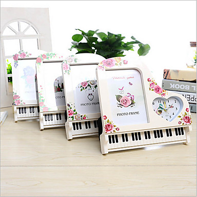 6 Inch Piano Shape Art Frame Picture Photo Frame Alarm