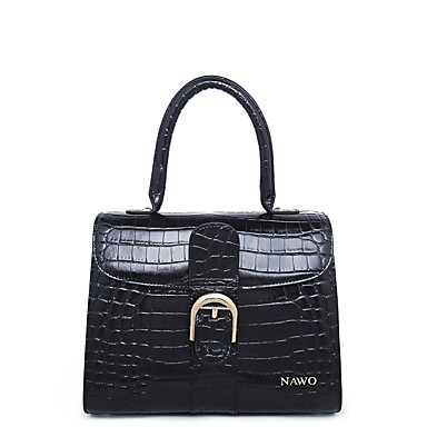 Buy NAWO Women Cowhide Tote Black-N153101