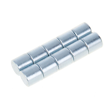 Buy DIY 10*10mm Cylindrical Neodymium NdFeB Magnets(10PCS) Silver